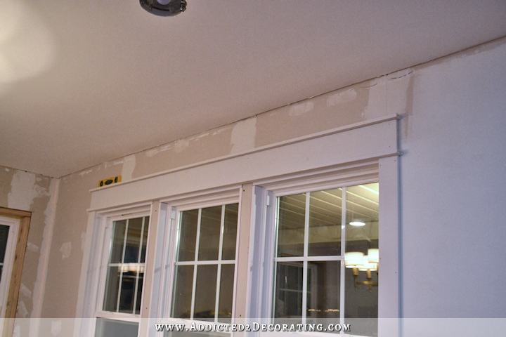 dining room - how to install trim and casing in new windows - 13