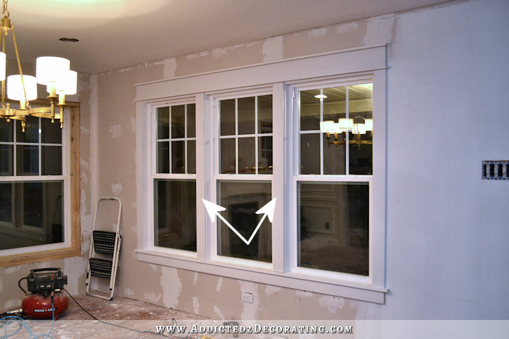 dining room - how to install trim and casing in new windows - 14