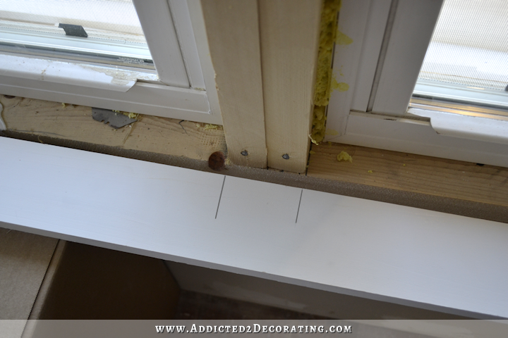 dining room - how to install trim and casing in new windows - 2