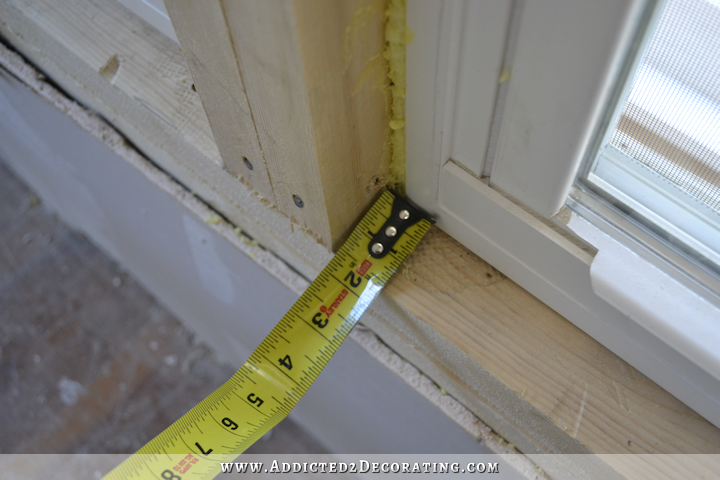 dining room - how to install trim and casing in new windows - 4