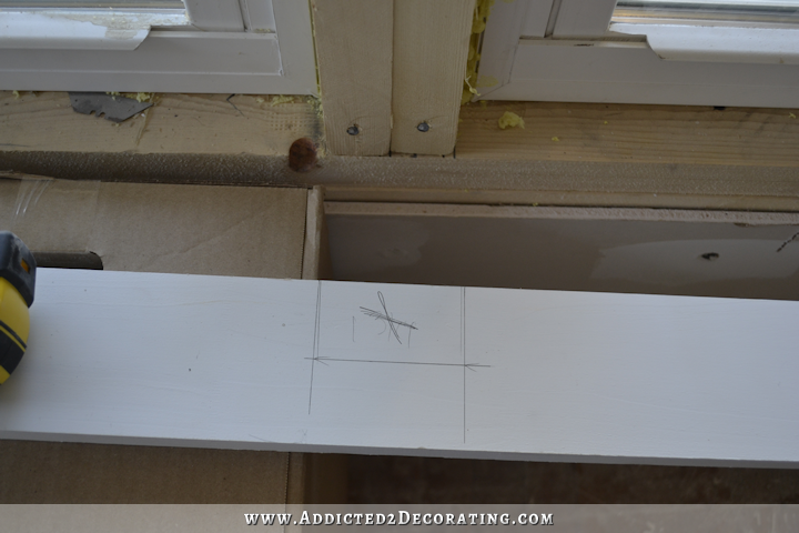 dining room - how to install trim and casing in new windows - 5
