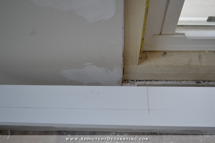 dining room - how to install trim and casing in new windows - 6