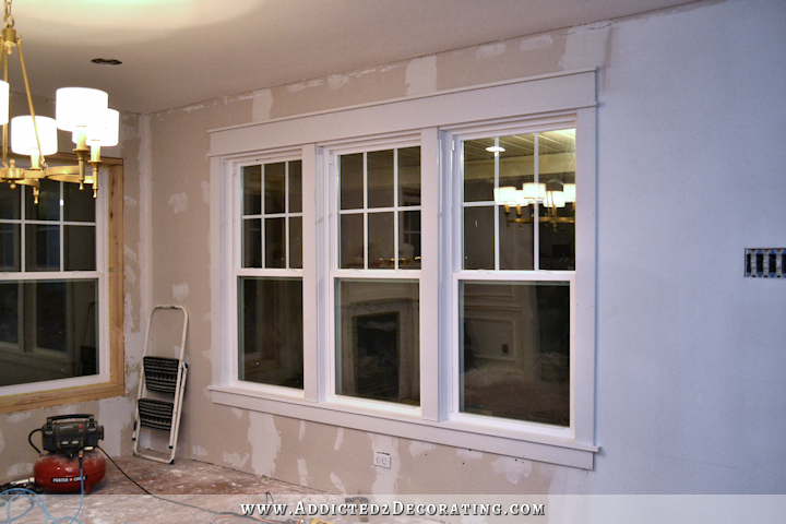 dining room - how to install trim and casing in new windows - after
