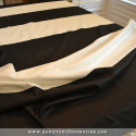 how to make black and white horizontal striped lined draperies - 6