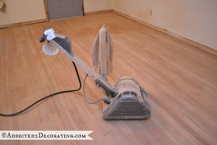 refinished hardwood floors - correctly sanded - 2