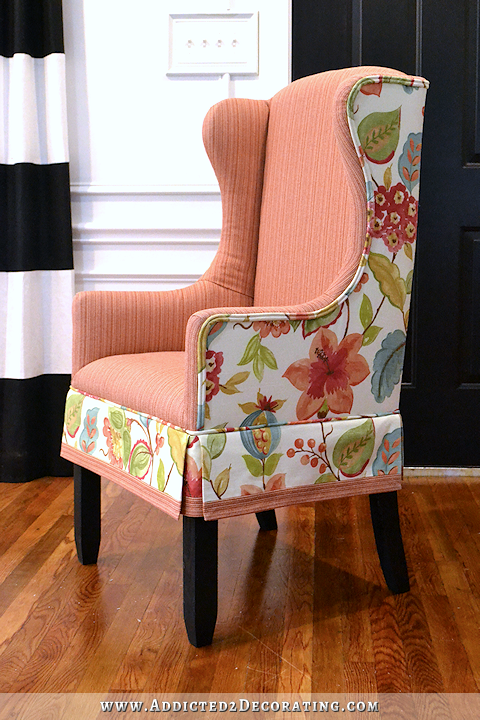 diy upholstered wingback dining chair u2013 finished how to upholster the frame part 2