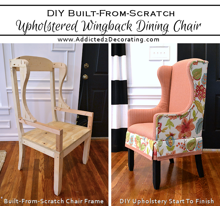 diy upholstered wingback dining chair