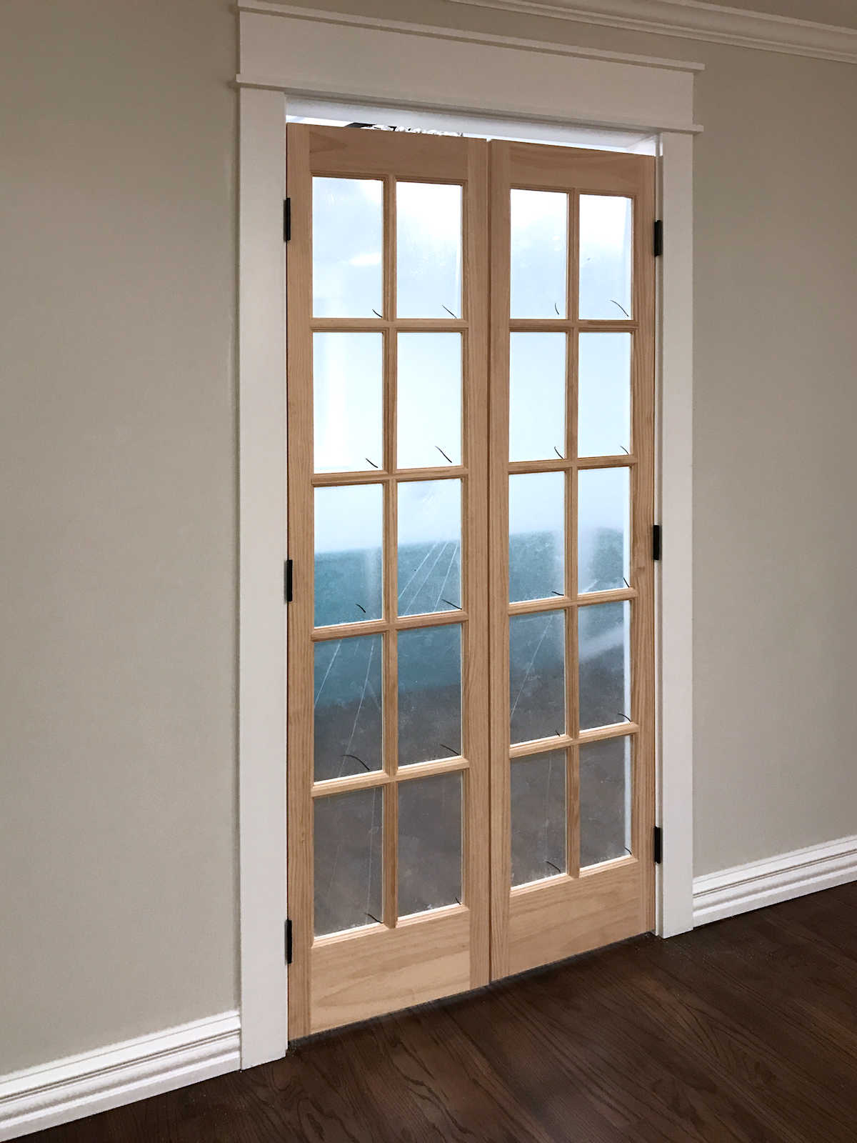 Pantry French Doors   8   Bifold Closet Doors Installed As French Doors,  Adjustments To
