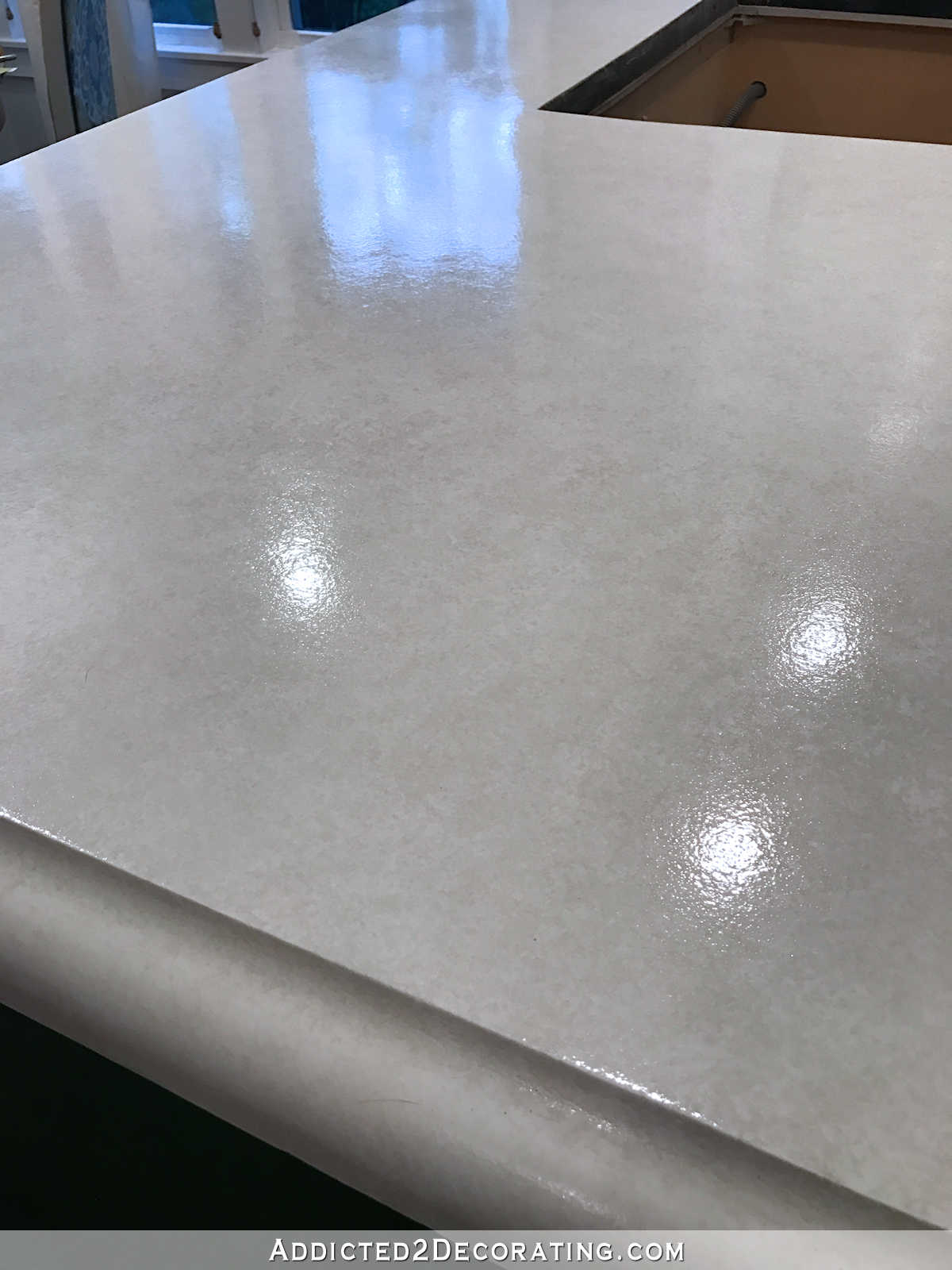 Clear Satin Epoxy Paint For Countertops : My finished refinished concrete countertops top coated