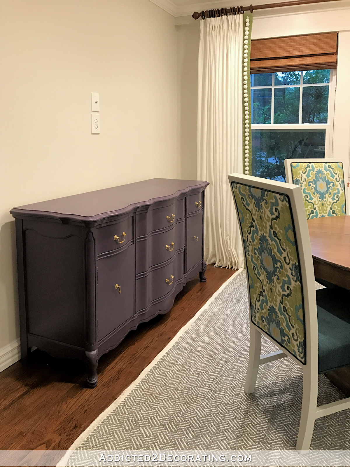 breakfast room buffet painted Behr Voodoo - 3