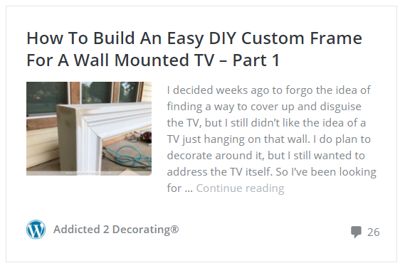 how to build an easy DIY frame for a wall mounted flat screen tv - part 1