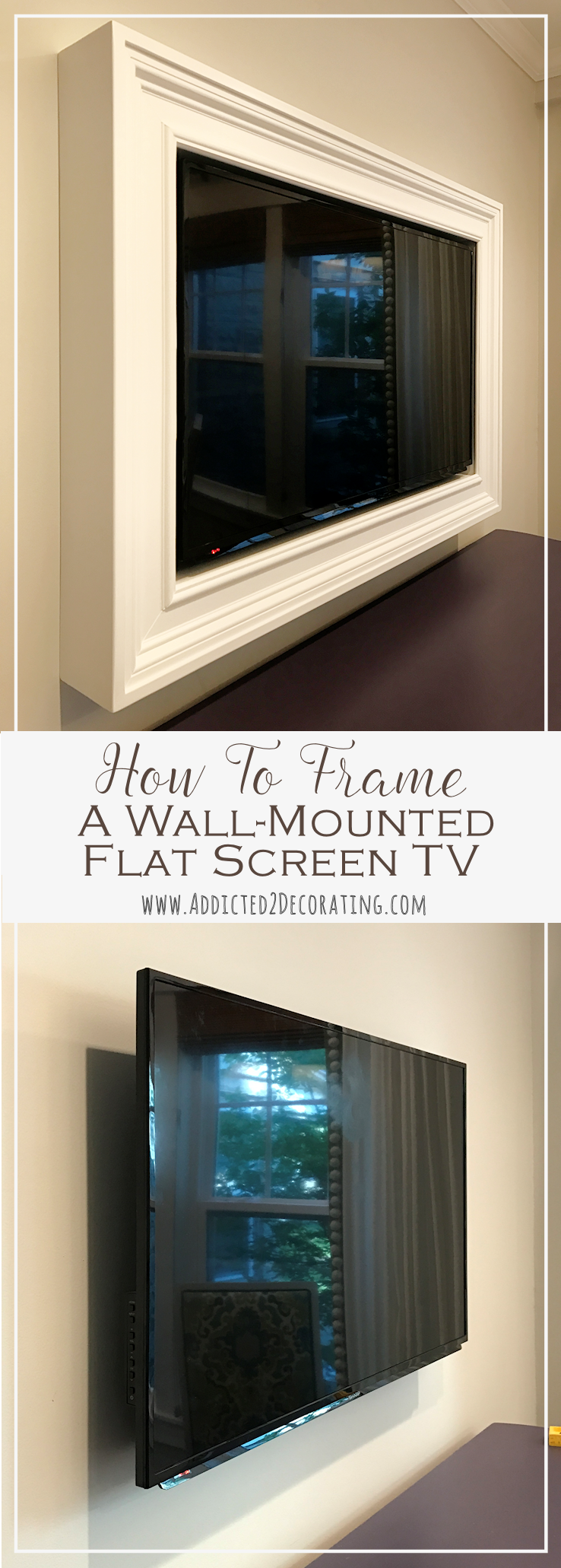 how to frame a wall mounted flat screen TV