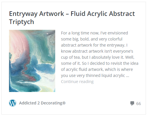Entryway artwork - fluid acrylic abstract triptych