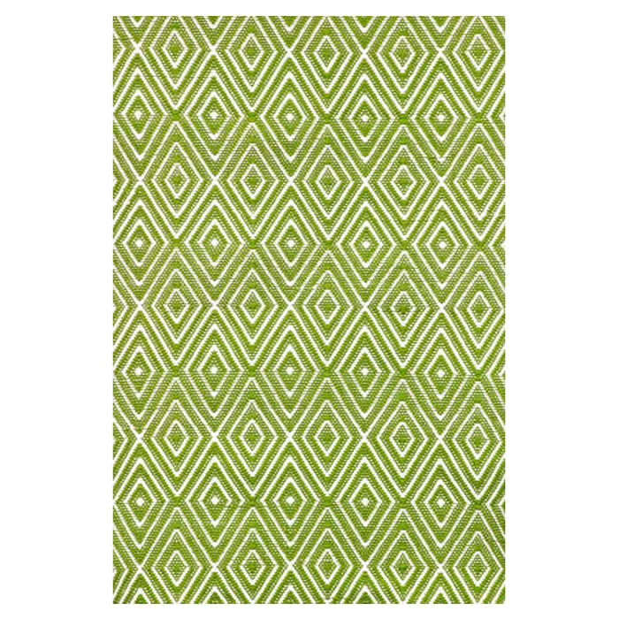 new rug possibility for the living room - green and white Dash and Albert rug