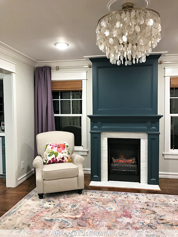 Fireplace Makeover Plus My Paint Color Trial And Error