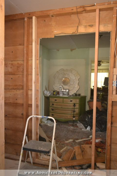 moving and widening a bathroom doorway