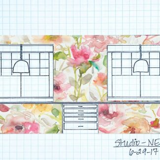 Floral Wallpaper and Large Scale Floral Mural Options For My Studio