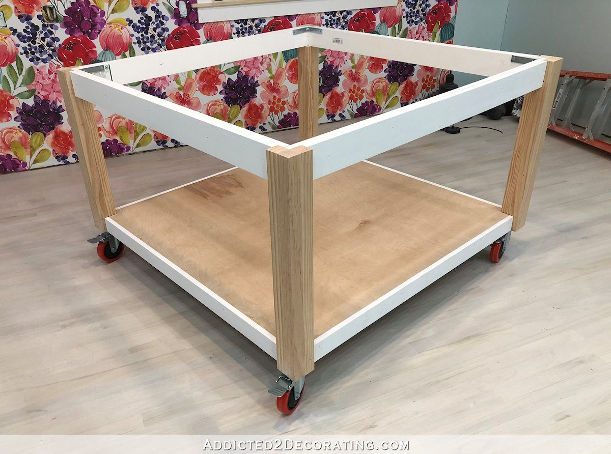 how to build a big craft table - 25 - finished table base