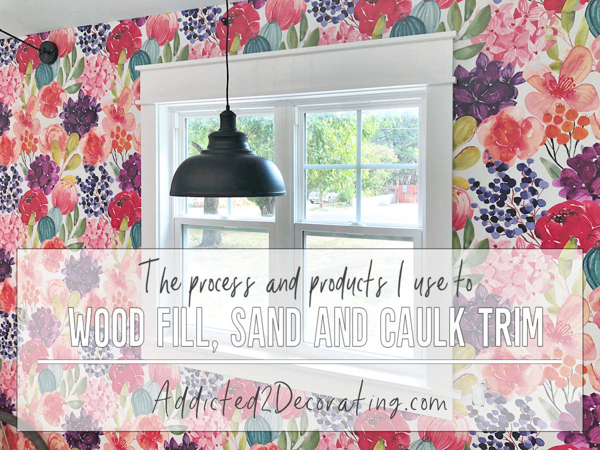 how to wood fill, sand, caulk and paint window and door trim