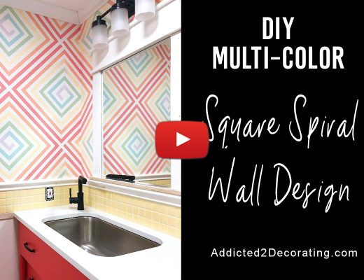 How to paint a multi-color square spiral wall design