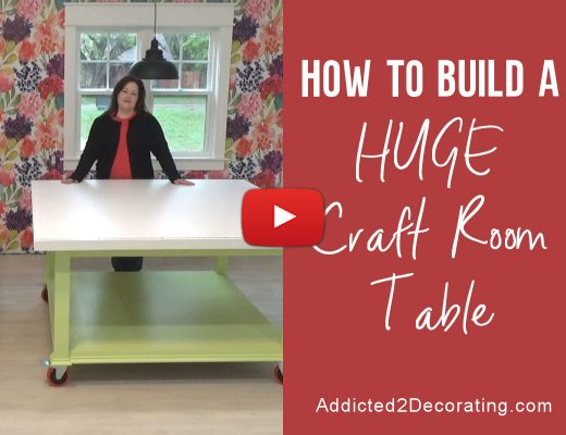 How to build a huge workroom table - video