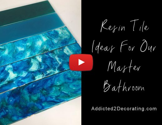 resin tile ideas for our master bathroom -- testing five differrent DIY styles