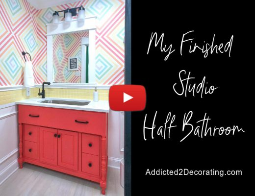 studio half bathroom video tour