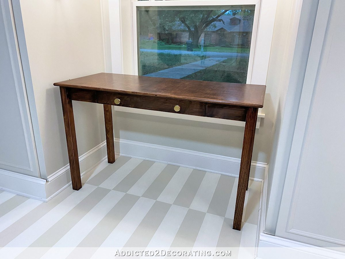 diy writing desk with drawer - 10
